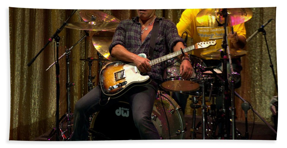 Jeff Ross Beach Towel featuring the photograph Bruce Springsteen by Jeff Ross