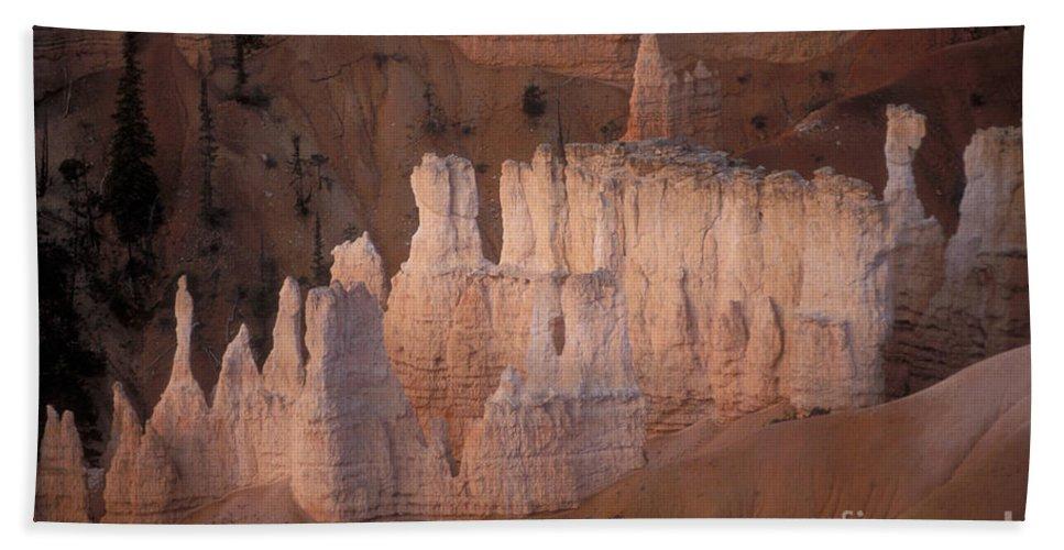 Bryce Canyon Beach Towel featuring the photograph Bryce Canyon Hoodoos by Sandra Bronstein