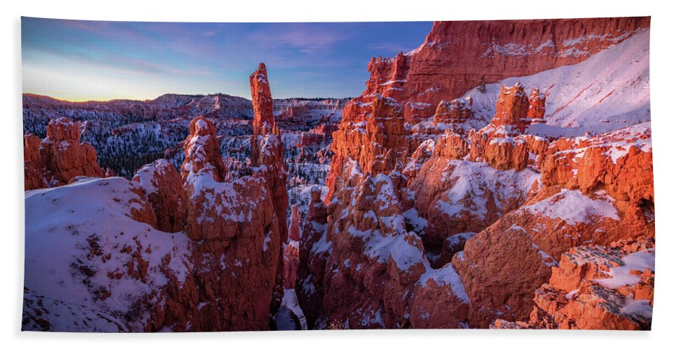 Amaizing Beach Towel featuring the photograph Bryce Tales by Edgars Erglis