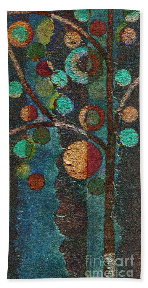 Tree Beach Towel featuring the painting Bubble Tree - Spc02bt05 - Left by Variance Collections