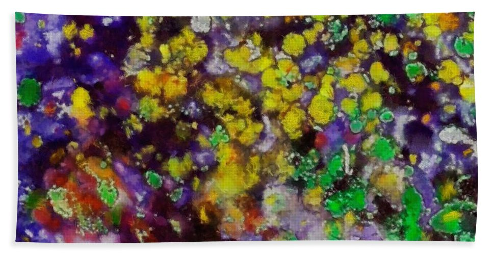 Bubbles Beach Towel featuring the painting Bubbles by Dragica Micki Fortuna