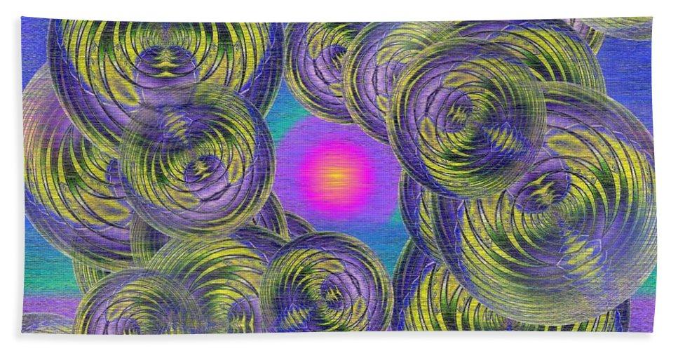 Bubbles Beach Towel featuring the digital art Bubbles In The Mist by Tim Allen