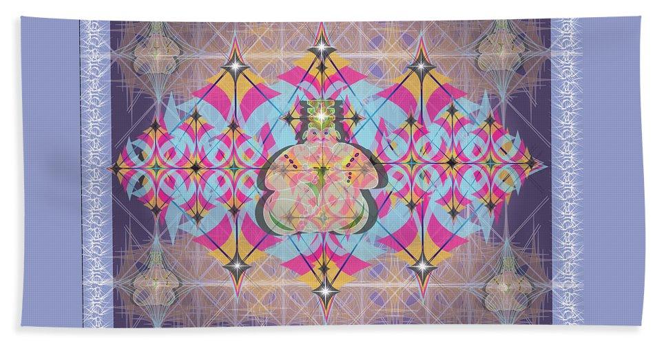 Abstract Beach Sheet featuring the digital art Buddah II by George Pasini