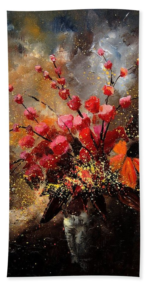 Poppies Beach Sheet featuring the painting Bunch 1207 by Pol Ledent
