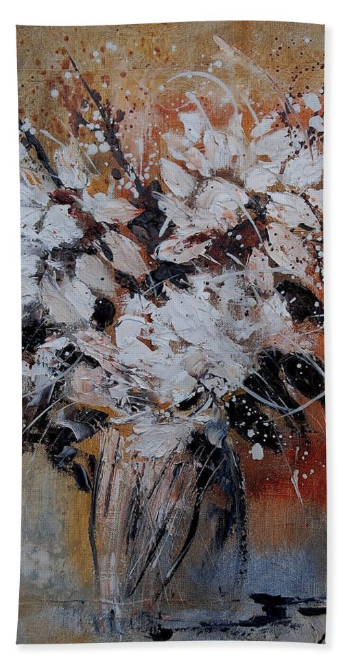 Flowers Beach Towel featuring the painting Bunch 45900140 by Pol Ledent