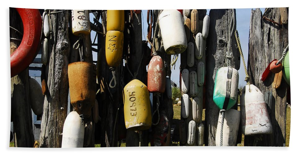 Buoys Beach Towel featuring the photograph Buoys by David Lee Thompson