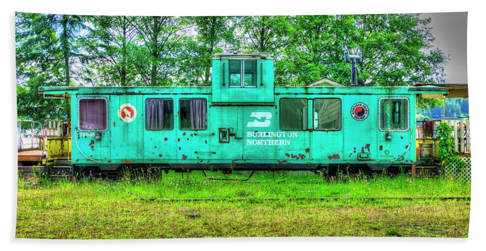 Burlington Northern Caboose 2 Beach Sheet