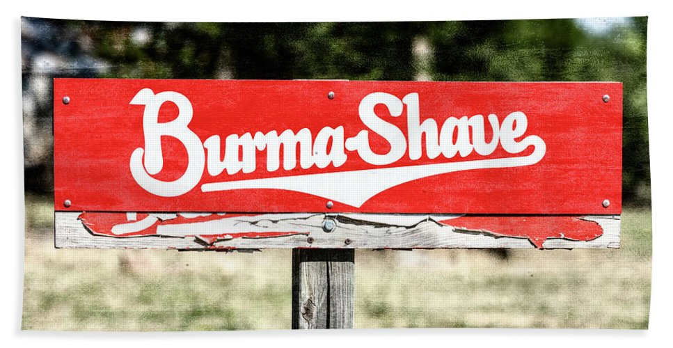 Burma-shave Beach Sheet featuring the photograph Burma Shave #1 by Stephen Stookey