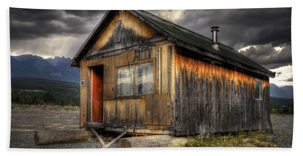 Architecture Beach Towel featuring the photograph Busted Shack by Wayne Sherriff