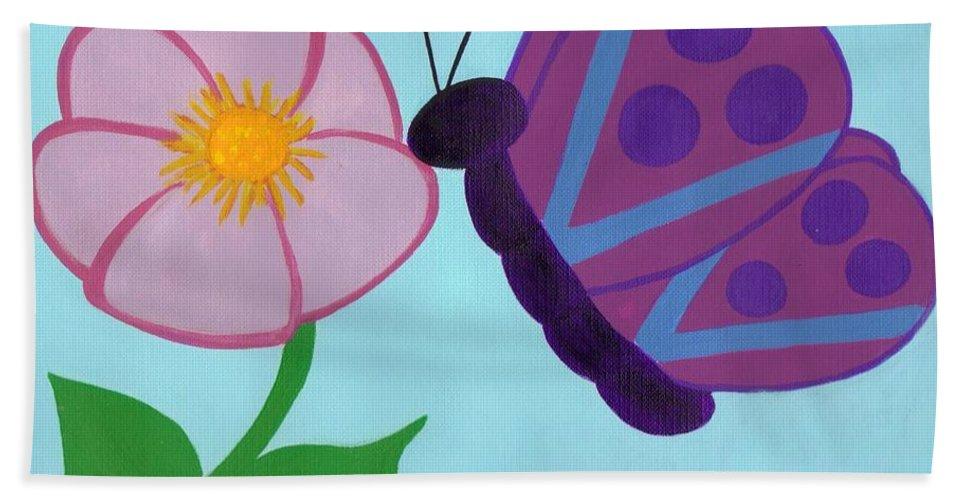 Butterflies Beach Towel featuring the painting Butterfly by Jill Christensen