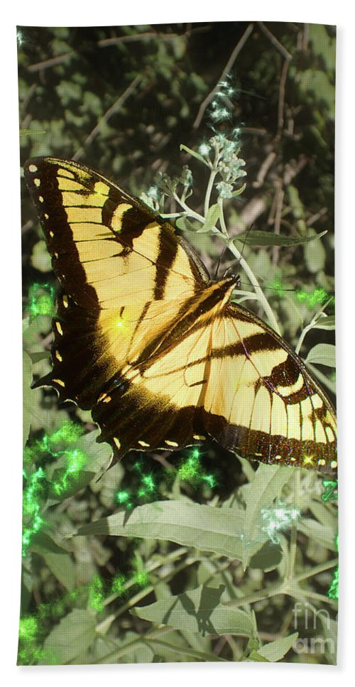 Eastern Tiger Swallowtail Beach Towel featuring the photograph Butterfly Magic by Nicole Angell