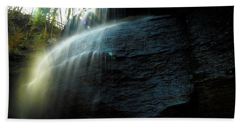 Buttermilk Falls Beach Towel featuring the photograph Buttermilk Falls by Joe Barefoot