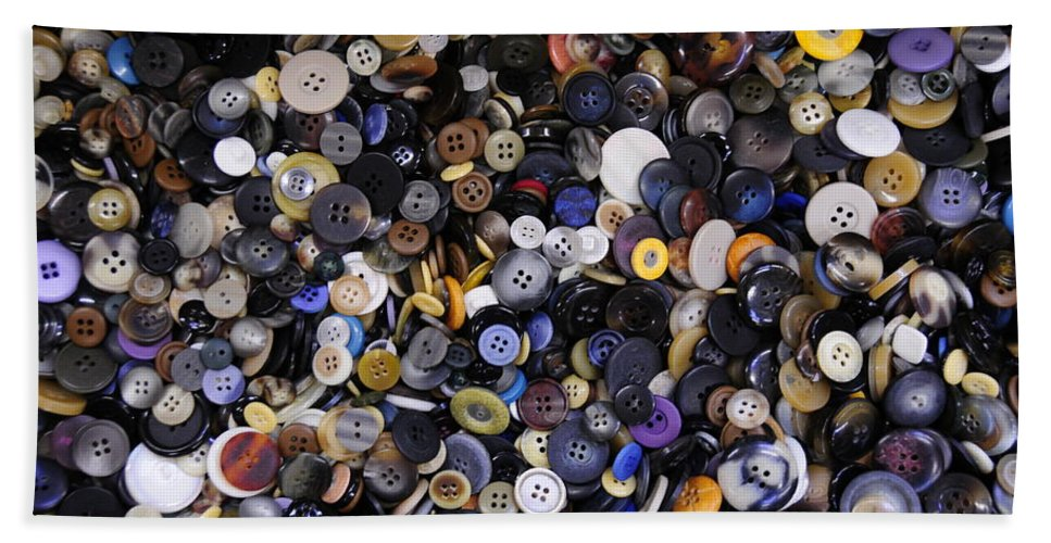 Buttons Beach Towel featuring the photograph Buttons by David Arment