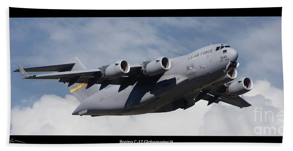 Boeing Beach Towel featuring the photograph C-17 Globemaster IIi Poster by Tommy Anderson