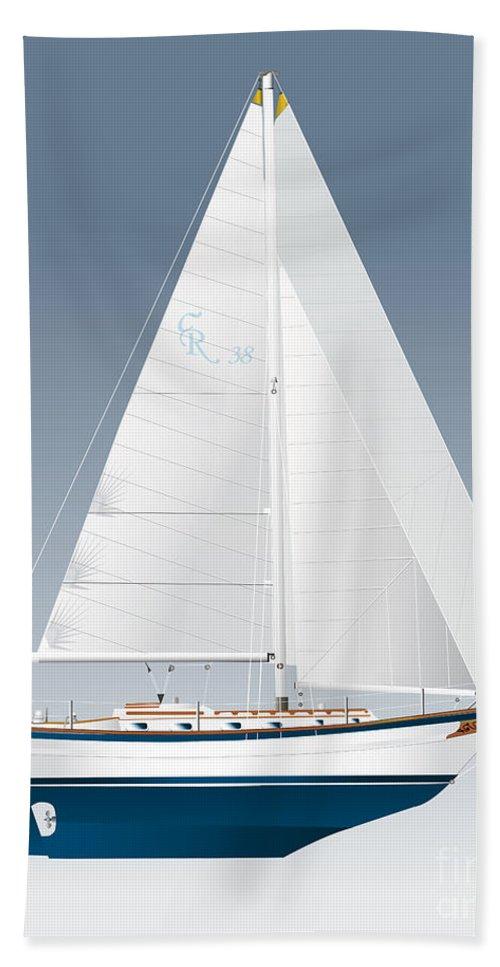 Egina Gallant Sailboats Beach Towel featuring the drawing Cabo Rico by Regina Marie Gallant