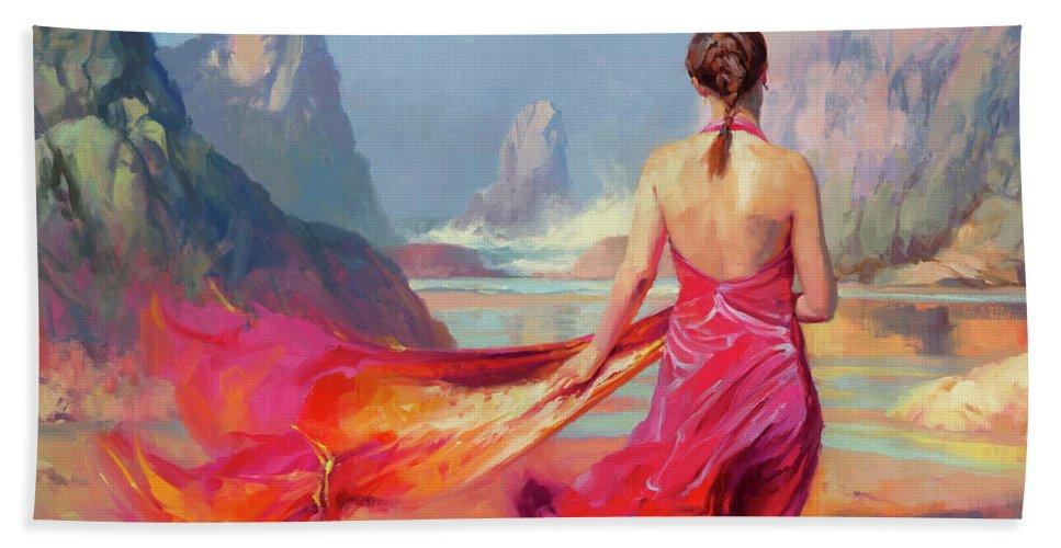 Coast Beach Towel featuring the painting Cadence by Steve Henderson