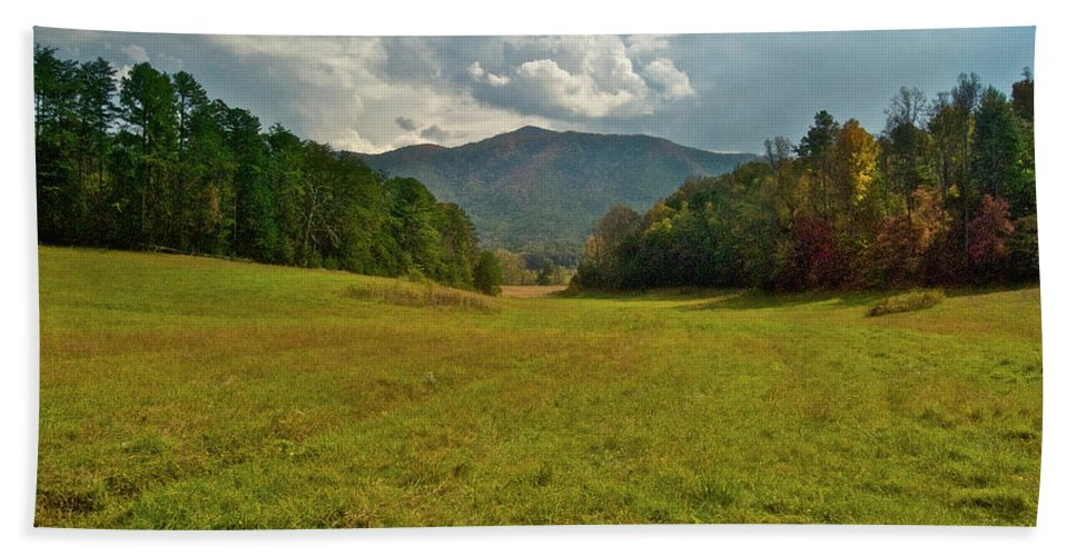Cades Cove Beach Towel featuring the photograph Cades Cove Pasture by Michael Peychich