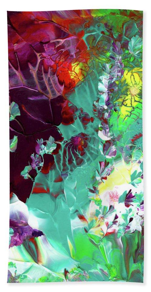 Original Painting Beach Towel featuring the painting Cajun River Wild by Nan Bilden