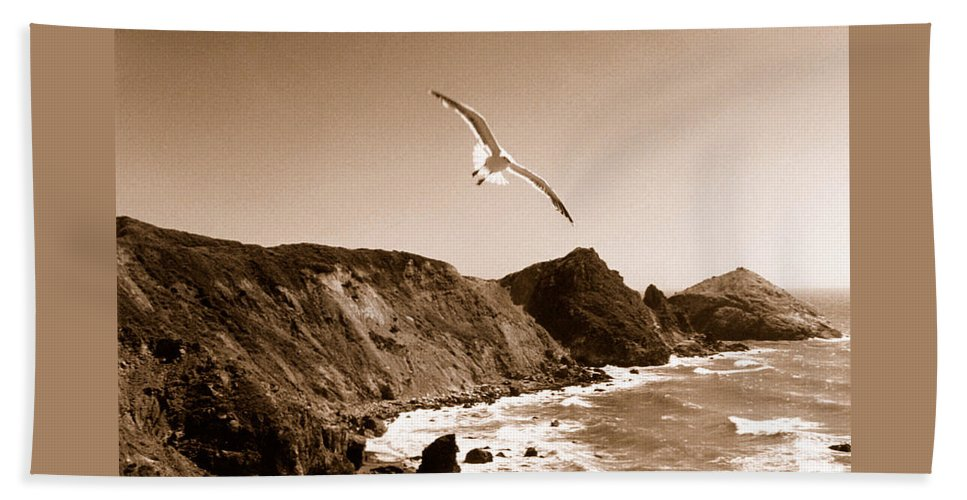 Seagull Beach Towel featuring the photograph Cali Seagull by Trish Hale
