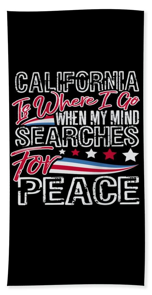 Veterans-day Beach Towel featuring the digital art California American Patriotic Memorial Day by Passion Loft