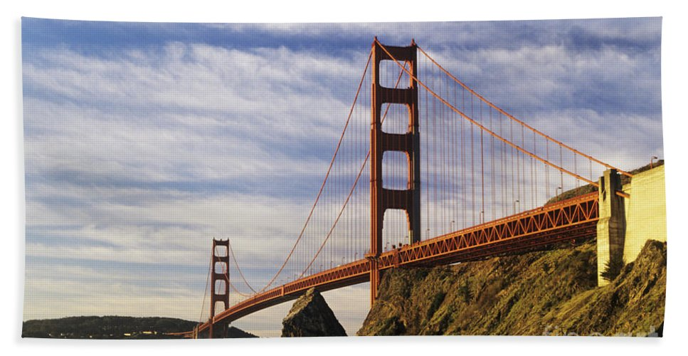 Across Beach Towel featuring the photograph California, San Francisco by Larry Dale Gordon - Printscapes