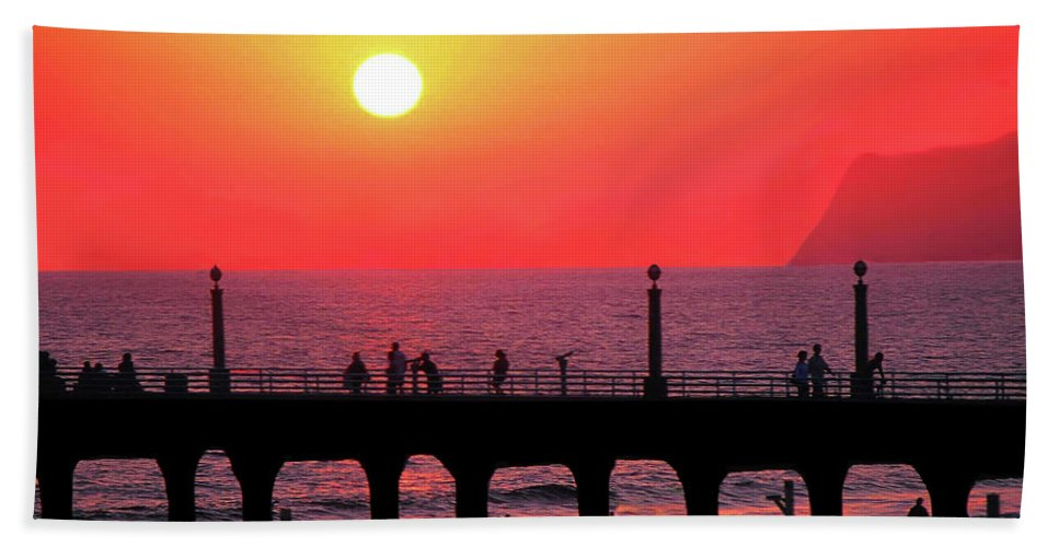 Sunset Beach Towel featuring the photograph California Sunset by Stephen Edwards