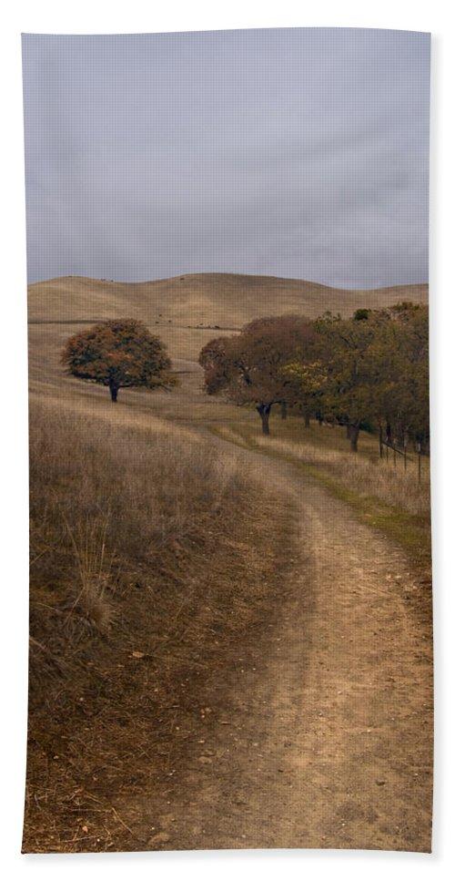 Landscape Beach Towel featuring the photograph California Winter by Karen W Meyer
