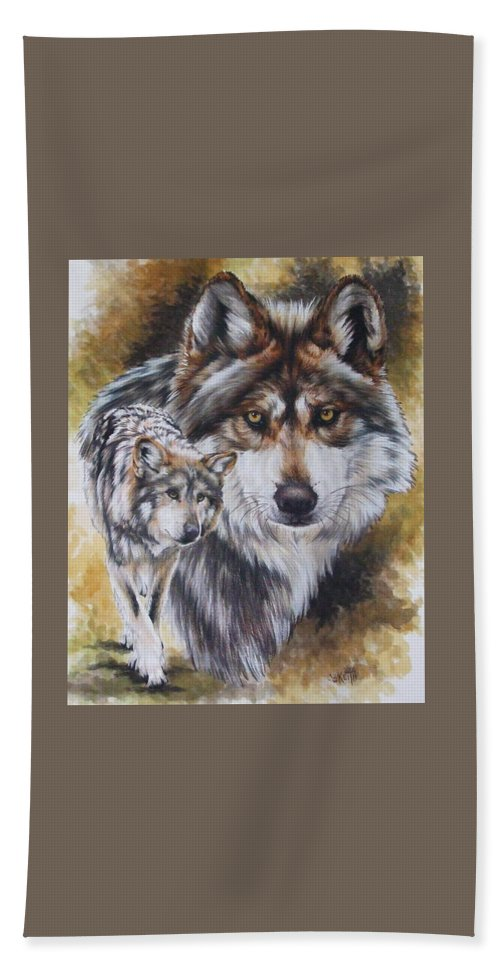 Wildlife Beach Towel featuring the mixed media Callidity by Barbara Keith