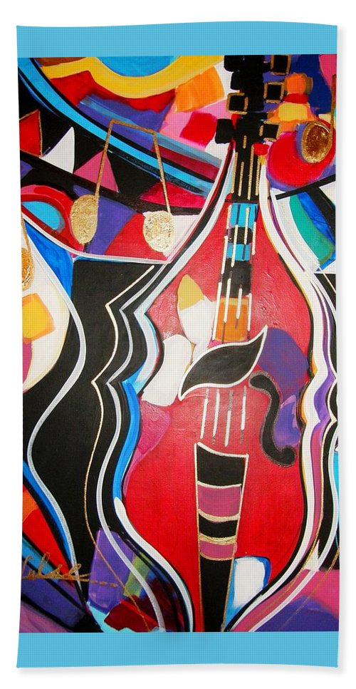 Music Beach Towel featuring the painting Calling Me Home by Gina Hulse