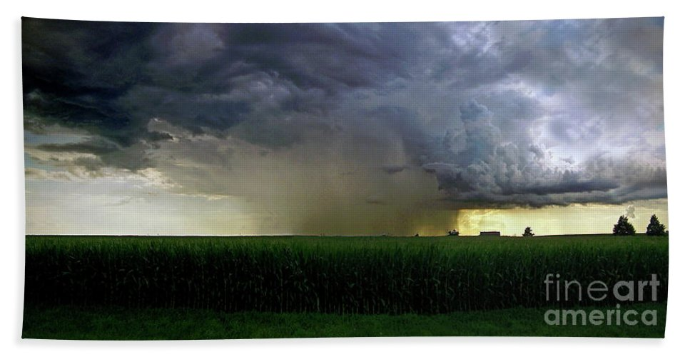 Color Photography Beach Towel featuring the photograph Calm Before The Storm by Sue Stefanowicz