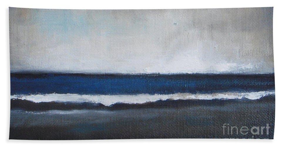 Ocean Painting Beach Towel featuring the painting Calm Ocean by Vesna Antic