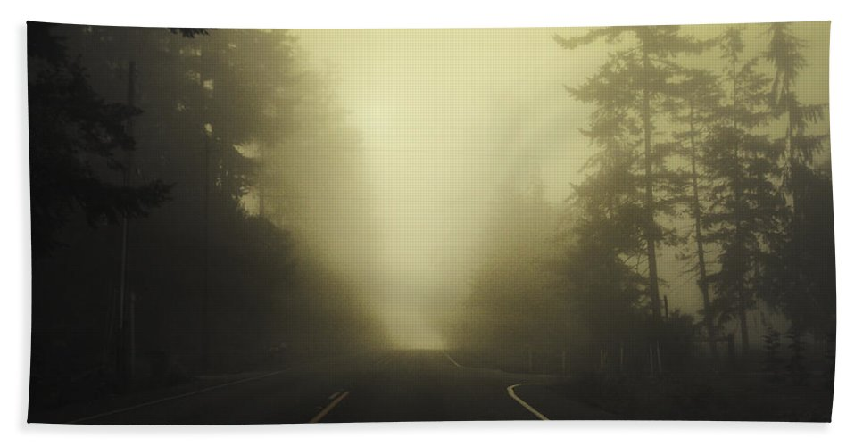 Fog Beach Towel featuring the photograph Camano Island Fog by Tim Nyberg