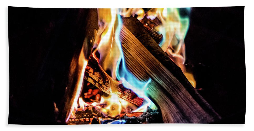 Campfire Beach Towel featuring the photograph Campfire In July by Will Bailey
