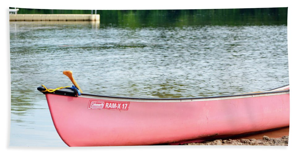 Beach Beach Towel featuring the photograph Can You Canoe by Traci Cottingham