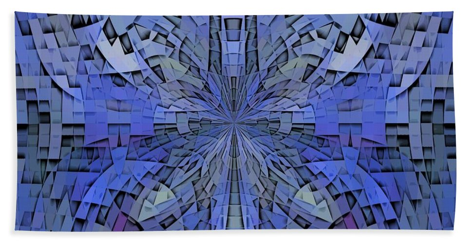 Abstract Beach Towel featuring the digital art Can You Hear Me Now by Tim Allen