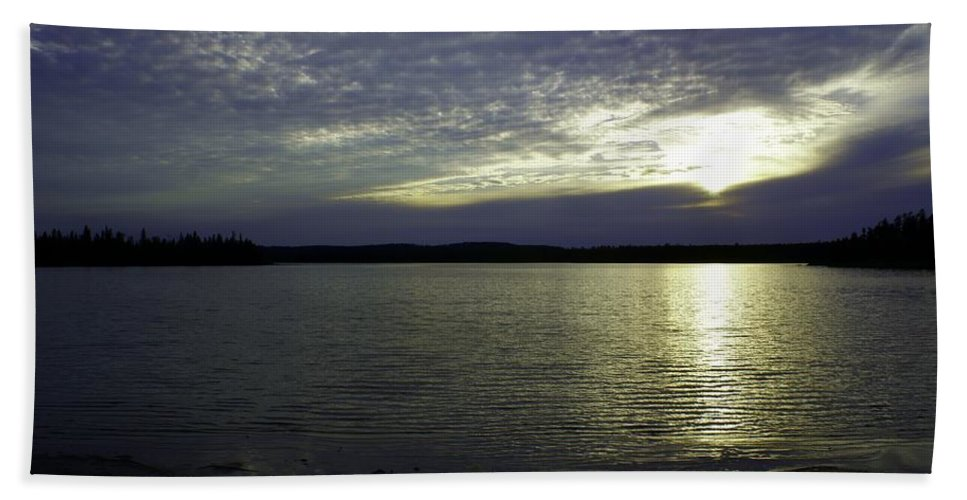 Sunset Beach Towel featuring the photograph Canadian Sunset by Joanne Smoley