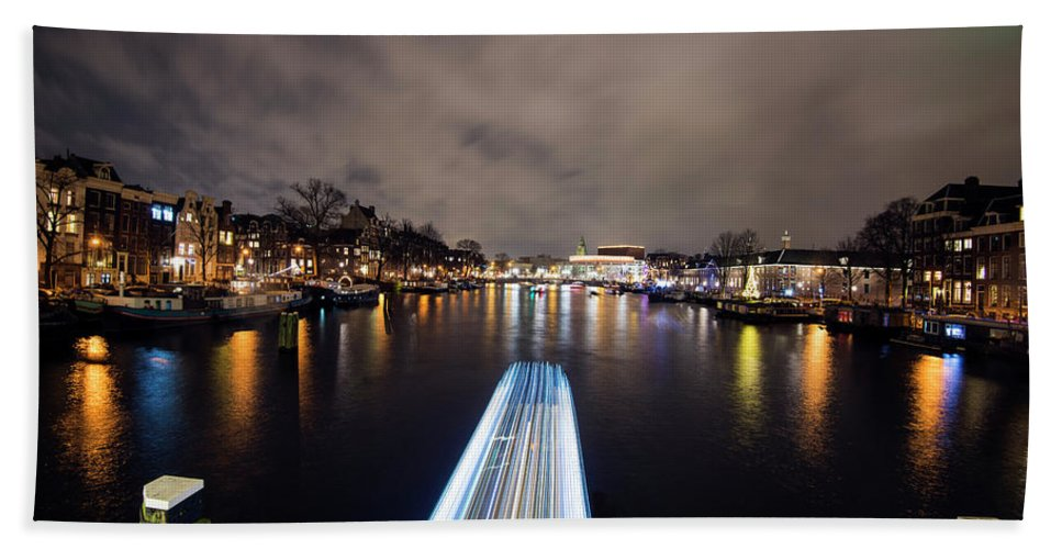 Travel Beach Towel featuring the photograph Canal Streaking I by Matt Swinden