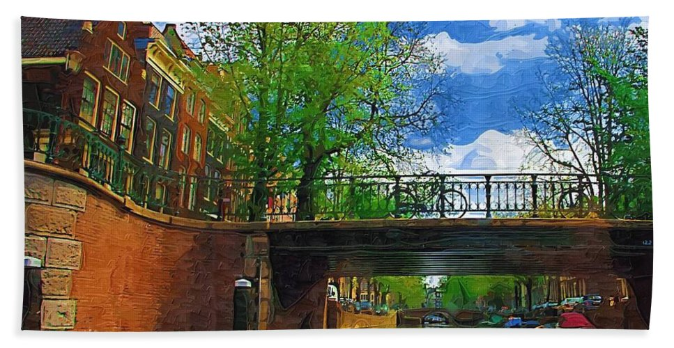 Amsterdam Beach Towel featuring the photograph Canals Of Amsterdam by Tom Reynen