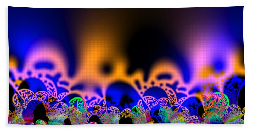 Abstract Beach Towel featuring the digital art Candariest by Andrew Kotlinski