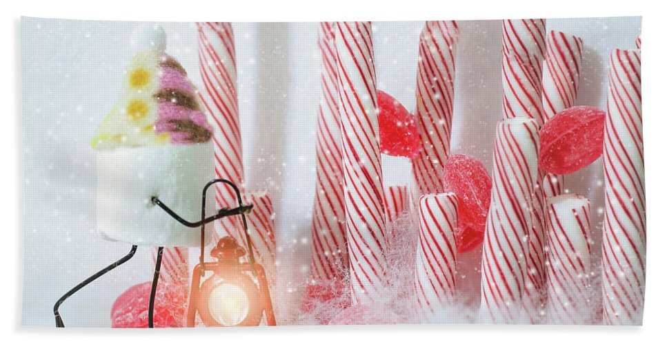 Candy Cane Forest Beach Towel For Sale By Heather Applegate