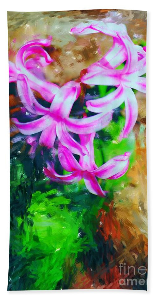 Beach Towel featuring the photograph Candy Striped Hyacinth by David Lane