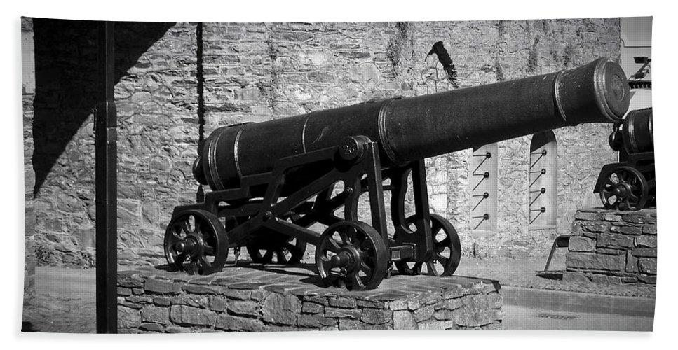 Irish Beach Towel featuring the photograph Cannon At Macroom Castle Ireland by Teresa Mucha