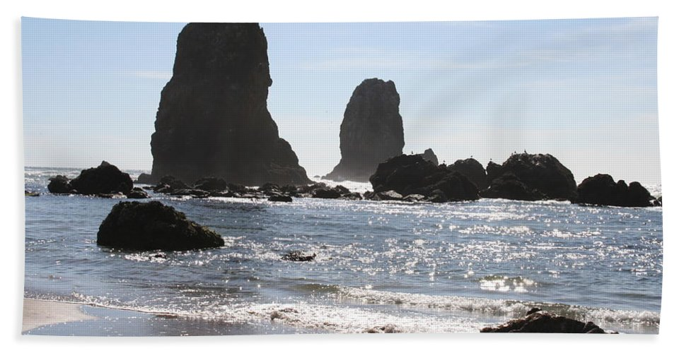 Sea Beach Towel featuring the photograph Cannon Beach II by Quin Sweetman