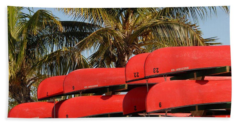 Flamingo Florida Beach Towel featuring the photograph Canoe's At Flamingo by David Lee Thompson