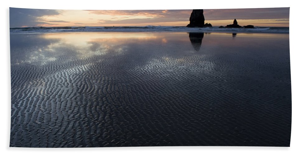 Canon Beach Beach Towel featuring the photograph Canon Beach At Sunset 6 by Bob Christopher