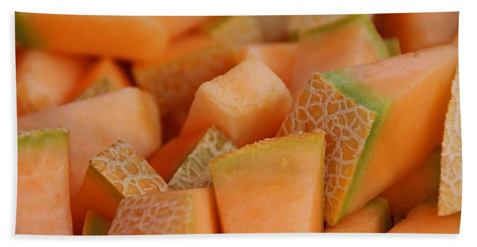 Cantaloupe Beach Towel featuring the photograph Cantaloupe II by Michiale Schneider