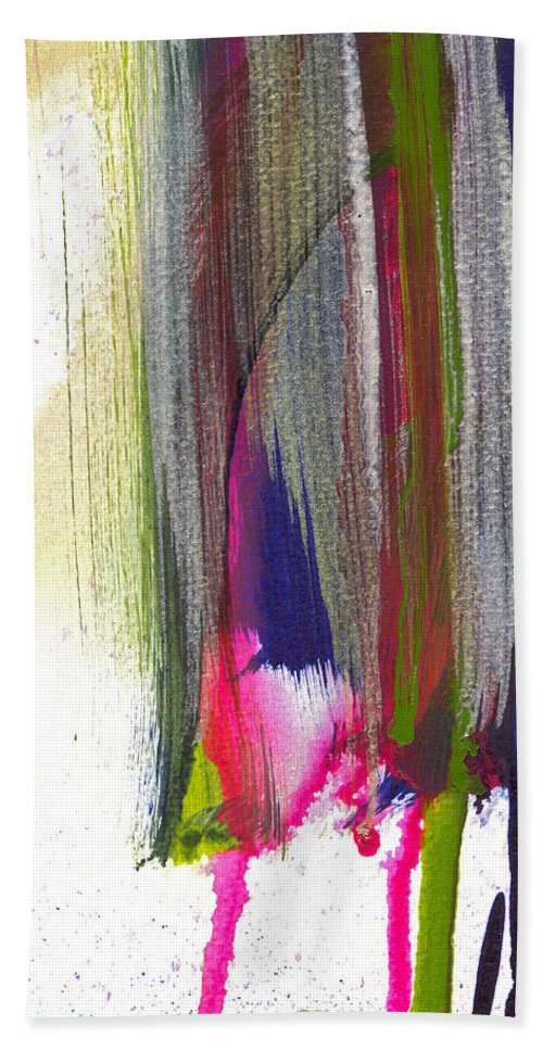 Abstract Beach Towel featuring the painting Cantilever by Tonya Doughty