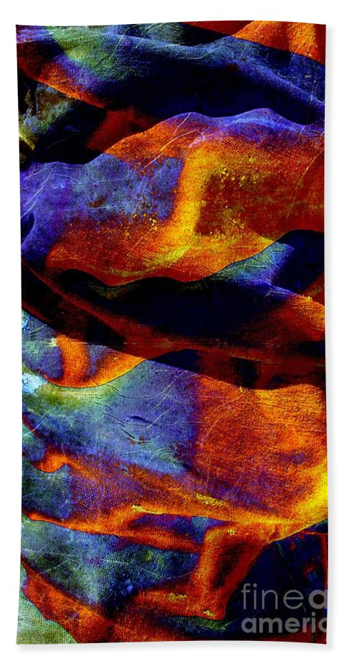 Canvas Beach Towel featuring the digital art Canvas by Ron Bissett