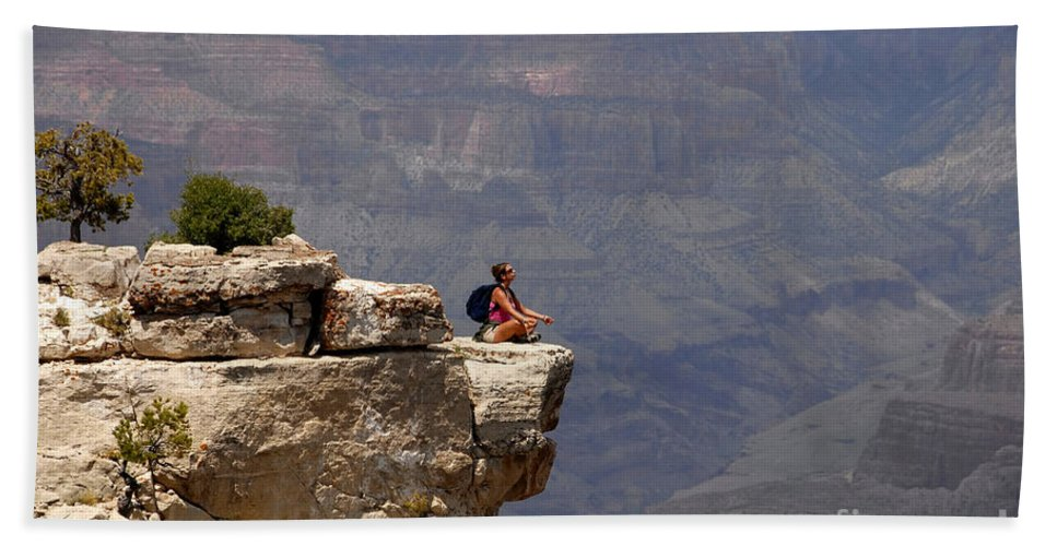 Grand Canyon National Park Arizona Beach Towel featuring the photograph Canyon Thoughts by David Lee Thompson