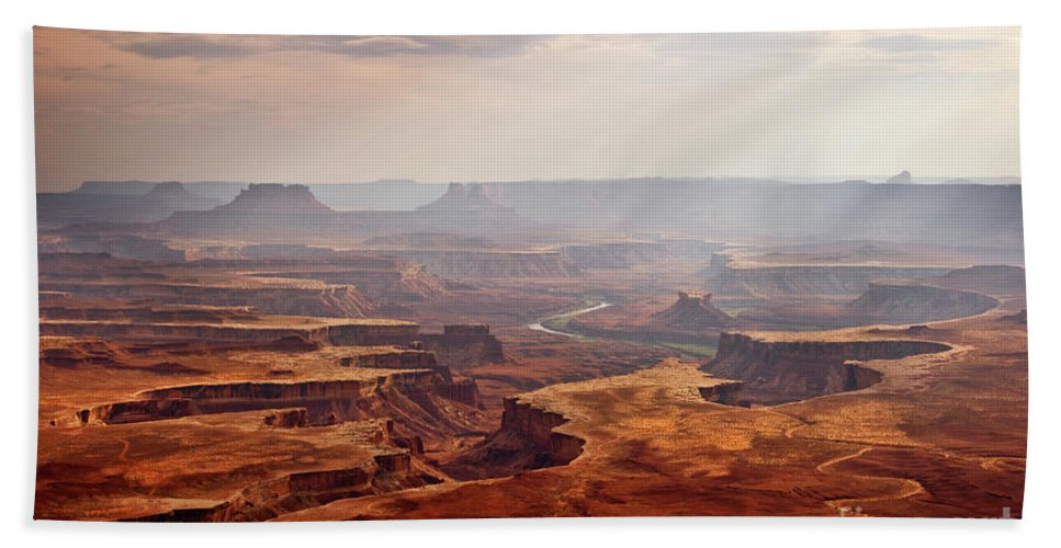 Canyonlands Beach Towel featuring the photograph Canyonlands Panorama by Delphimages Photo Creations